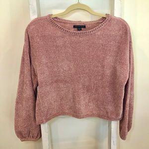 Super Soft Chenille Crop Sweater